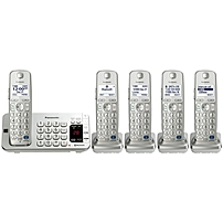 Panasonic Kx-tge275s Dect 6.0 1.90 Ghz Cordless Phone - Silver - Cordless - 1 X Phone Line - 4 X Handset - Answering Machine - Hearing Aid Compatible - Backlight