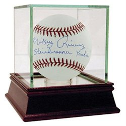 Mickey Rivers MLB Baseball with Steinbrenner Yankee Inscription
