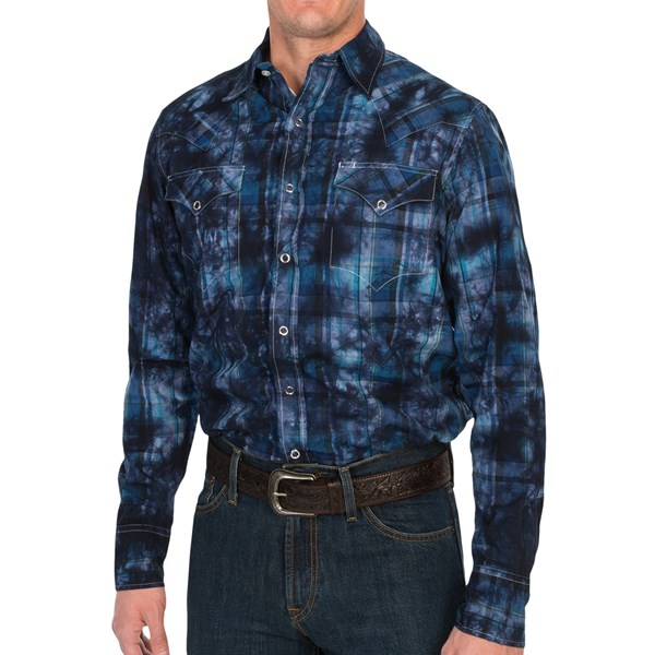 Tin Haul Tie-Dye Plaid Shirt - Snap Front, Long Sleeve (For Men)