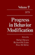 Progress in Behavior Modification, Volume 7 covers developments in the study of behavior modification