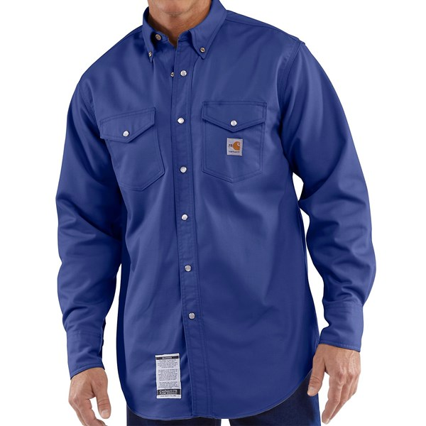 Carhartt Flame-Resistant Twill Work Shirt - Long Sleeve (For Big and Tall Men)