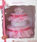 Create-A-Gift 2 Tier Girl Celebration Baby Cake Gift Set, Strawberry/Vanilla