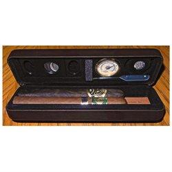 Personalized Csonka Accessorized Pocket Travel Cigar Humidor Case