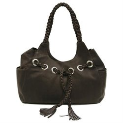 Piel Personalized Leather Braided Hobo Bag