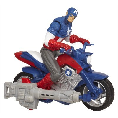 The Avengers Battle Chargers - Captain America And Furyfire Assault Cycle By Hasbro