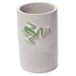 Set of 2 PCS 5 Grey Concrete Green Frog Green Motif Outdoor Indoor Planter Vase