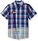 Diesel Big Boys' Long Sleeve Fancy Sport Shirt, Estate Blue Jeej, 14/16
