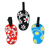 Blummy 3pcs Luggage Tags ID Tags for Travel Identifier and Suitcase Label (Color 11)