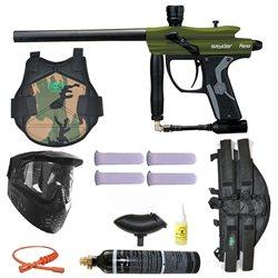 Spyder Fenix Electronic Paintball Marker Gun 3Skull 4 1 Protector Set - Olive