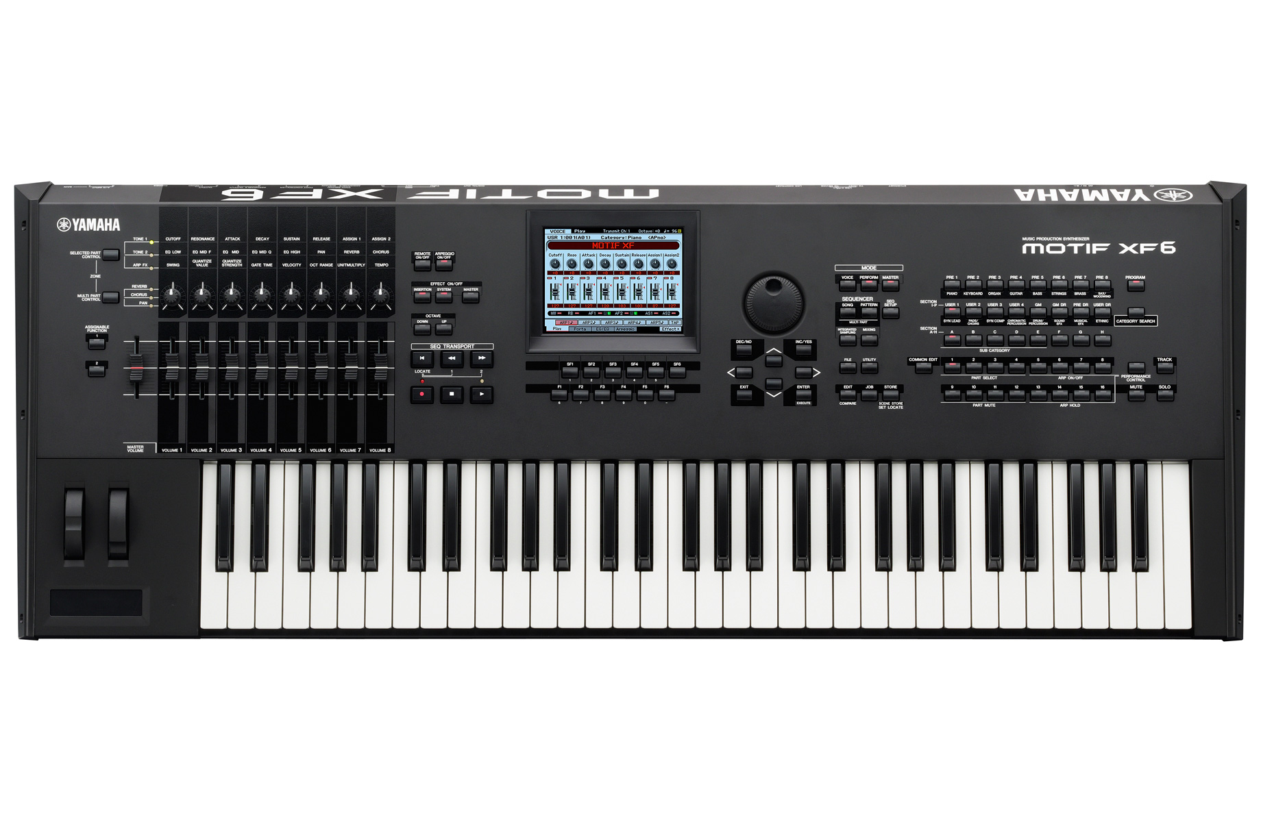 Yamaha Motif XF Keyboard Synthesizer Workstation - 61-Key - Includes 10th Anniversary Pack