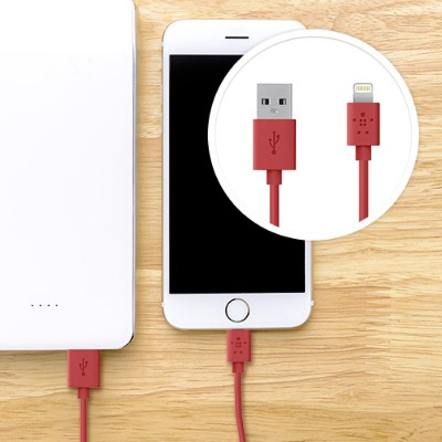 Belkin F8j023bt04-red Lightning To Usb Chargesync Cable - 4.0 Feet - Red