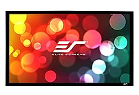 """Elite Screens Er200wh1 Sable Frame Wall Mount Fixed Frame Projection Screen (200"""" 16:9 Aspect Ratio) (cinewhite) - 98"""" X 174"""" - Cinewhite"""