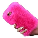 IPhone 6 Plus Case, IPhone 6S Plus Case, DDLBiz® Warm Fluffy Villi Fur Plush Wool Bling Case Cover Skin for iPhone 6/6S Plus 5.5inch (For Iphone 6/6s Plus 5.5Inch, Hot Pink)