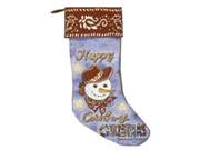 Happy Cowboy Christmas Decorative Christmas Stocking 18