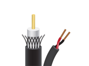 Sewell Bulk Black Rg59 power Siamese Cable 500 Ft. W/ 50 Pack Of Bnc Compression Connectors