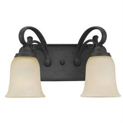 Del Prato Vanity Light in Misted Bronze