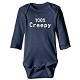 100% Creepy Funny Halloween Baby Onesie Bodysuit