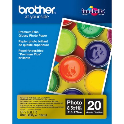 Brother Bp71gltr Bp71gltr Premium Plus - Glossy - Letter A Size (8.5 In X 11 In) 20 Sheet(s) Photo Paper - For  Mfc-j5830  J6535  J690  J775  Inkvestment Work S