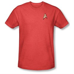 Mens STAR TREK Short Sleeve ENGINEERING UNIFORM Large Heathered T-Shirt Tee