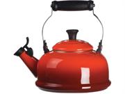 Le Creuset 1.8-qt. Enamel On Steel Whistling Tea Kettle, Cherry