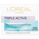L'Oréal Paris Dermo-Expertise Triple Active Day Multi-Protection Moisturiser - Normal & Combination Skin (50ml)