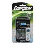 Energizer Smart Rechargeable Charger for AA/AAA Batteries, with 4 AA Batteries Included - 1400mAh