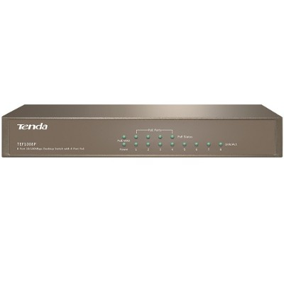 Tenda Technology Tef1008p 8-port 10/100 Mbps With 4-port Poe - Unmanaged Switch