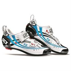 Sidi T3 Air Carbon Triathlon Womens Shoes, White/Black/Sky Blue Vernice