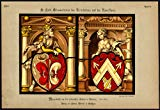 Antique Print-STAINED WINDOW-COAT OF ARMS-WELF-NURNBERG-54-Kolb-Gatternicht-1884
