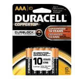 Duracell Coppertop Aaa Batteries 10 Count