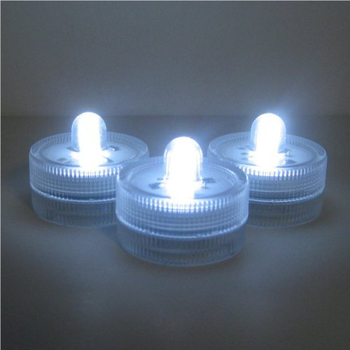 Submersible Battery LED 10 Lights~WHITE~wedding~tea Light