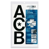 Press-On Vinyl Uppercase Letters