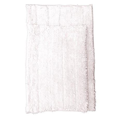 Chenille Bath Mats - 2-pack, White
