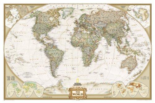 World Executive Wall Map Laminated (World Maps) (National Geographic)