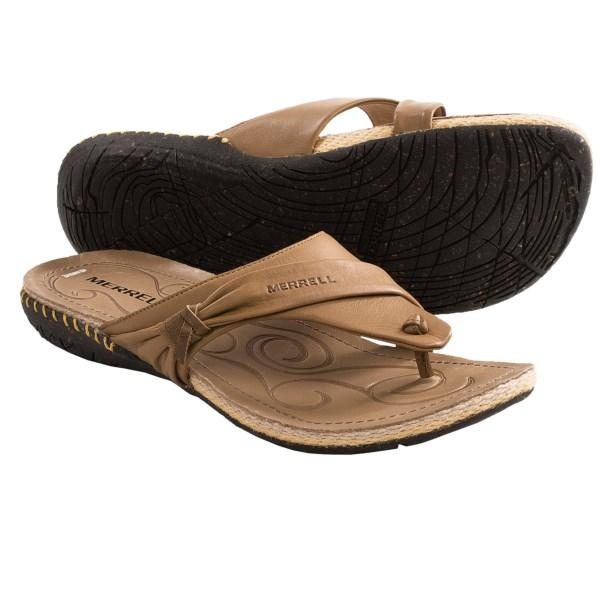 Merrell Whisper Flip-Flop Sandals - Leather (For Women)