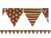 Dots On Chocolate Pennant Border