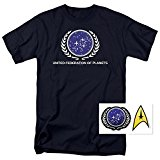 Star Trek United Federation of Planets T Shirt & Exclusive Stickers (X-Large)