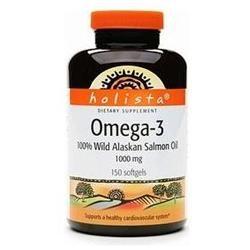 Holista Omega-3 100% Wild Alaskan Salmon Oil 1000mg 150 ea