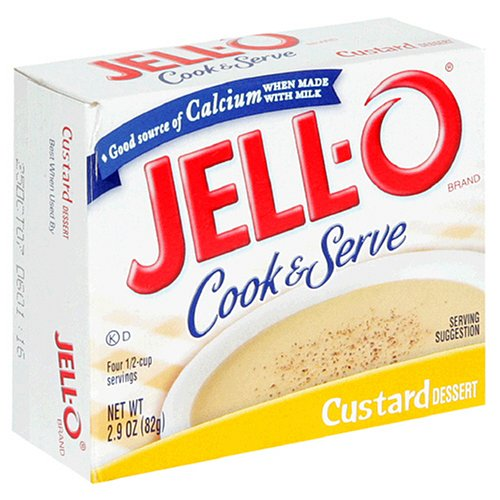Jell-O Cook & Serve Pudding & Pie Filling, Custard Dessert, 2.9-Ounce Boxes (Pack of 24)