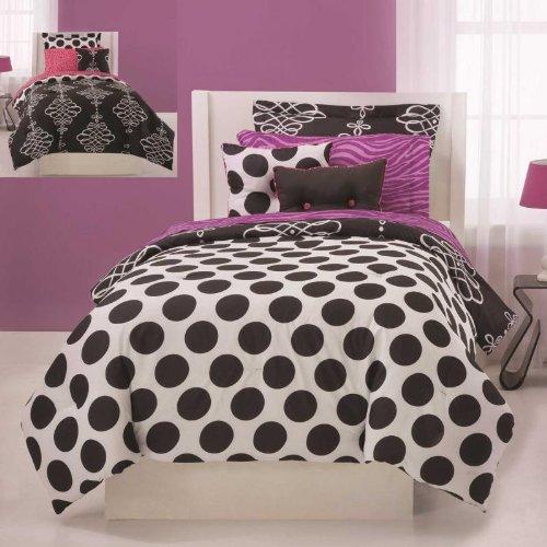 Jackie Twist Opposites Attract Bed in Bag Set, Twin, 6-Piece