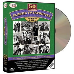 Classic TV Favorites DVD Set: 50 Episodes Westerns, Dramas, Comedies 50s/60s