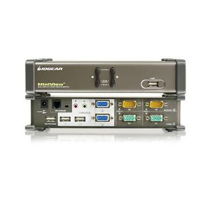 Iogear Gcs1742 Miniview Dual View Kvmp Switch Gcs1742 - Kvm / Audio / Usb Switch - 2 X Kvm / Audio / Usb - 2 Local Users - Desktop