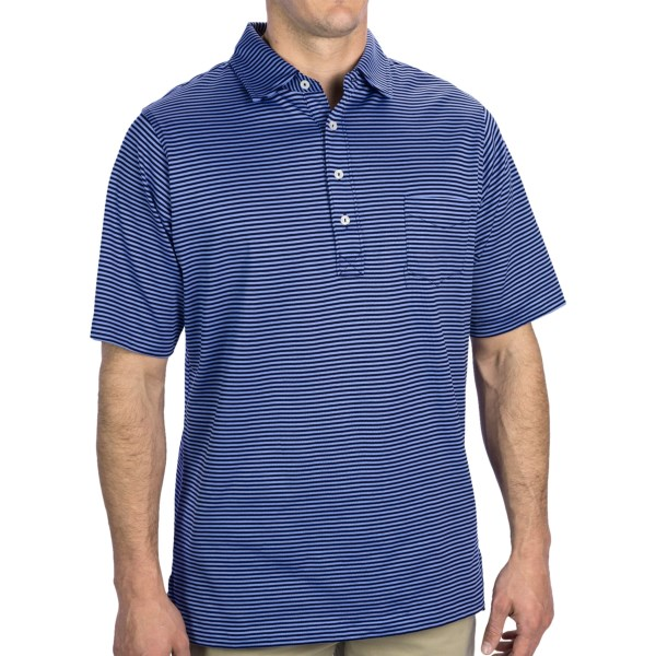 Fairway and Greene Spencer Pureformance Stripe Polo Shirt - Short Sleeve (For Men)