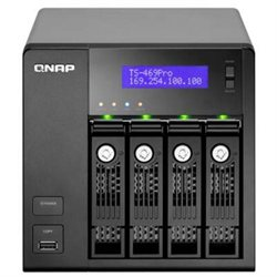 QNAP TS-469 PRO 4-Bay NAS Atom 2.13G 1GB RAM