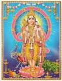 Lord Kartikeya / Murugan / Subrahmanya / Hindu god of war and victory Poster (Size: 9X11 Inches Unframed)