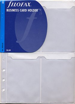Filofax Financial Business/Visiting Card Holder A5 - FF-343616