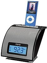 Ihome Ih110 Alarm Clock For Your Ipod With Fm Tuner - Black