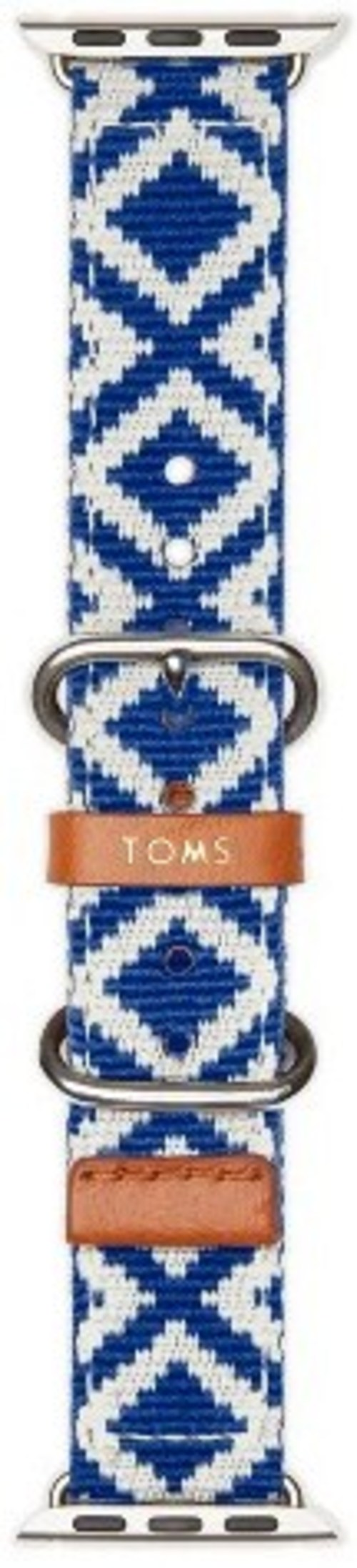 Toms 490570052965 1.5-inch Woven Band For Apple Watch - Blue
