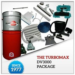 The TurboMax DV3000 Central Vacuum Package( Add Installation Kit)