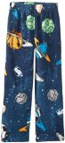 Komar Kids Big Boys' Space Cozy Fleece Pajama Pant, Navy, X-Small
